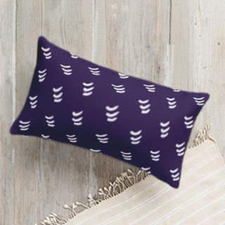 Playful Chevron Lumbar Pillow