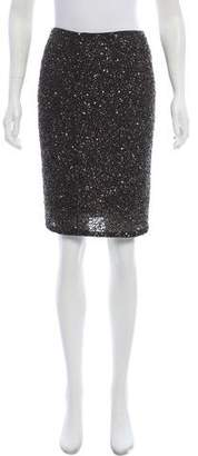 Alice + Olivia Sequined Pencil Skirt