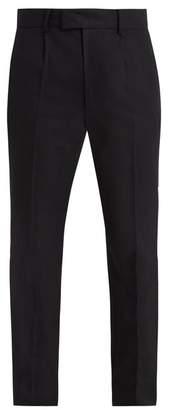 Raey - Slim Leg Wool Tuxedo Trousers - Mens - Black