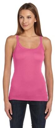 Clementine Apparel Women's Sheer Mini Rib Thin Strap Tank Top