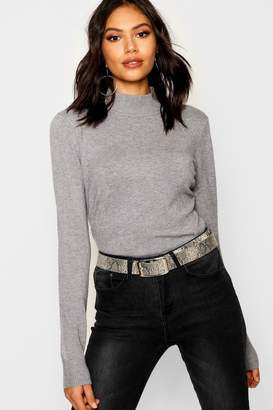 boohoo Knitted Premium Turtle Neck Top