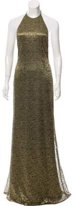 Carmen Marc Valvo Lace Evening Dress