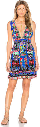 Camilla V Neck Short Dress in Blue $450 thestylecure.com