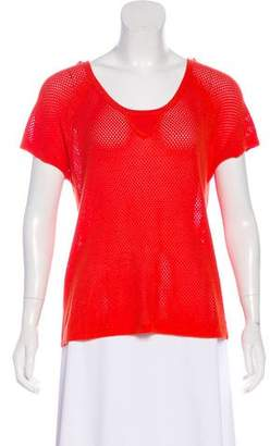 Rag & Bone Meshed Knit Top