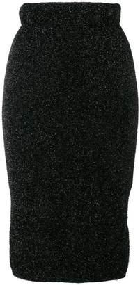 Laneus knitted glitter skirt