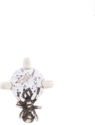 E.m. crystal stud fly earring
