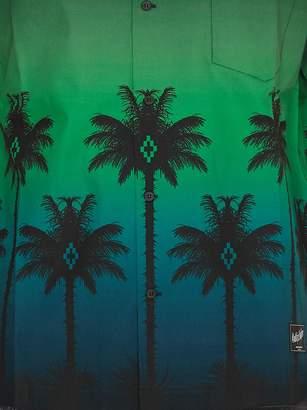 Marcelo Burlon County of Milan Green Palm Shirt