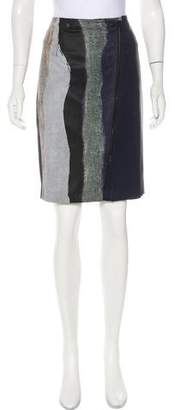 Yigal Azrouel Abstract Print Knee-Length Skirt w/ Tags
