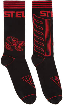 Stella McCartney Black and Red Moto Socks