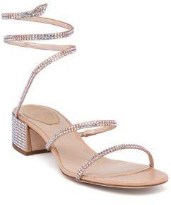 Rene Caovilla Wraparound Swarovski Sandals