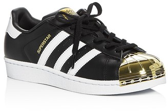 Adidas Women's Superstar Metallic Toe Lace Up Sneakers $100 thestylecure.com