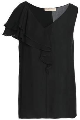 Emilio Pucci Ruffled Silk-Chiffon Top
