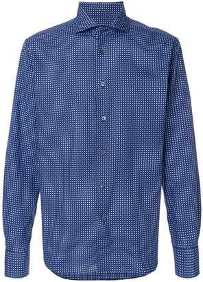 Corneliani square printed shirt