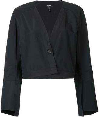 Jil Sander Navy cropped flute sleeve jacket