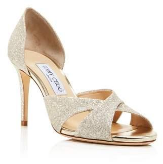 Jimmy Choo Women's Lara 85 Glitter d'Orsay High-Heel Sandals