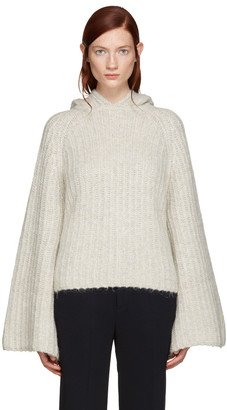See by Chloé Grey Mohair Hoodie $595 thestylecure.com