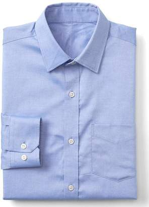 Gap Wrinkle-resistant chambray standard fit shirt