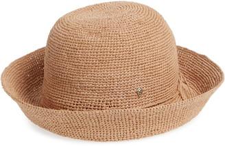 Helen Kaminski Classic Upturn Crocheted Raffia Hat