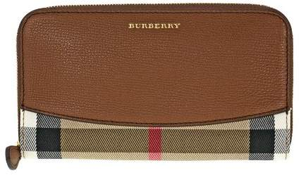 Burberry House Check Sartorial Leather Wallet - Brown Ochre