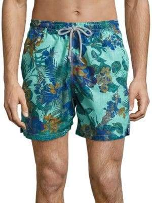 Saks Fifth Avenue COLLECTION Hawaiian Floral Printed Swim Shorts