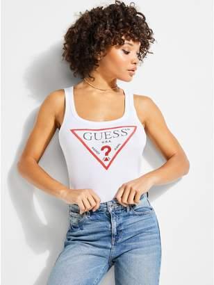 GUESS Women's Rhinestone Triangle Logo Tank
