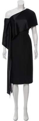 Narciso Rodriguez Asymmetrical Drape Dress