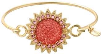 SENFAI Summer Sunflower Hook Bangle Bracelet for Birthday Bridesmaid Gift ( gold)
