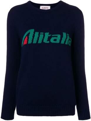 Alberta Ferretti (アルベルタ フェレッティ) - Alberta Ferretti Alitalia intarsia jumper