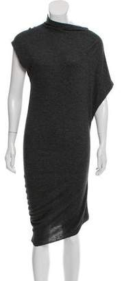 Etoile Isabel Marant Wool Blend Asymmetrical Dress