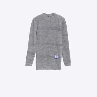 Balenciaga Ribbed sweater with back panel