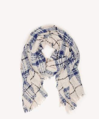 Sole Society Mixed Plaid Oversize Scarf