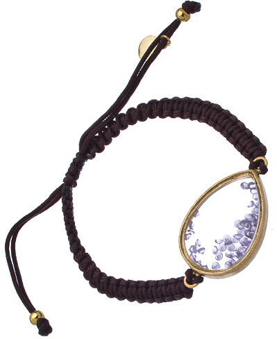 Urban Posh Purple CZ Stardust Shaker Braided Bracelet