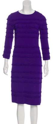 Christian Dior Ruffle-Trimmed Bodycon Dress
