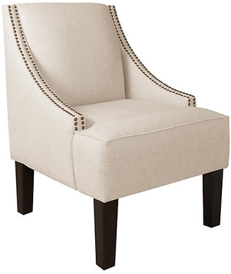 One Kings Lane Cam Swoop-Arm Chair - Talc