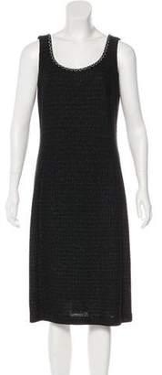 Couture St. John Metallic Knit Midi Dress