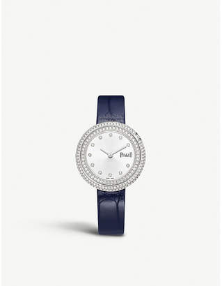 Piaget G0A43095 Possession 18ct white-gold, diamond and leather watch
