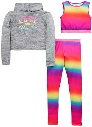 Very Girls Rainbow Top, Hoodie & Legging Outfit