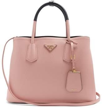 Prada Double Saffiano Leather Bag - Womens - Pink Navy