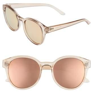 Le Specs Paramount 52mm Round Sunglasses