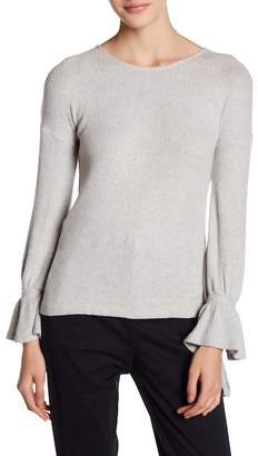 Lucky Brand Tie Sleeve Ribbed Pullover