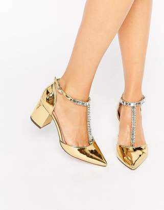 Asos DESIGN SANTIAGO Embellished Pointed Heels