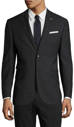 Michael Bastian Gray Label Wool Checkered Notch Lapel Sportcoat