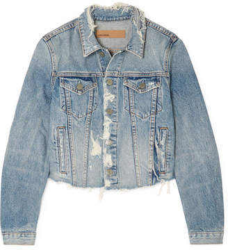 GRLFRND Cara Distressed Denim Jacket - Light denim