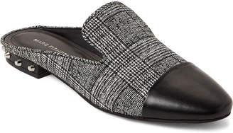 Marc Fisher Black & Silver Analise Tweed Loafer Mules