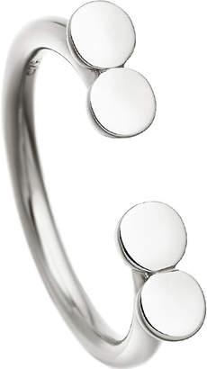 Astley Clarke Stilla Double Disc sterling silver ring