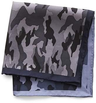 Banana Republic Leonard Camouflage Silk Pocket Square