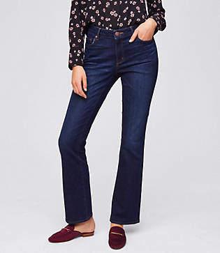 LOFT Tall Curvy Bootcut Jeans in Dark Indigo Wash