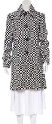 Celine Knee-Length Print Coat w/ Tags