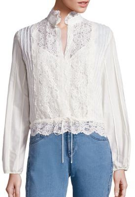 See by Chloe Cotton Lace Blouse $395 thestylecure.com