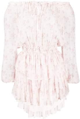 LoveShackFancy Love Shack Fancy off-the-shoulder floral-print dress